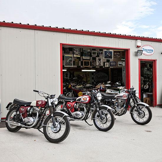 Façade atelier Frank Chatokhine - Histoire Blouson Record Les Motocyclettistes
