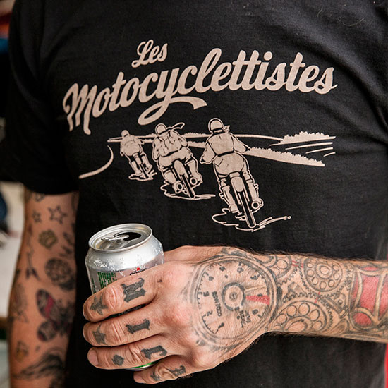 Tee-shirt Les Motocyclettistes - Histoire Blouson Record