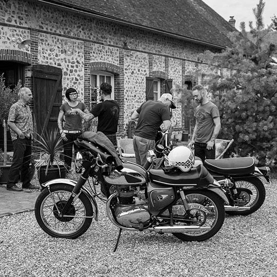 Profil BSA Lightning 650 cc de 1967 - Histoire Blouson Record Les Motocyclettistes