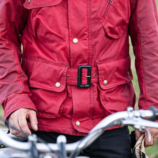 Vue de la veste Les Motocyclettistes de Jean-Yves Sellin - Histoire veste Les Motocyclettistes