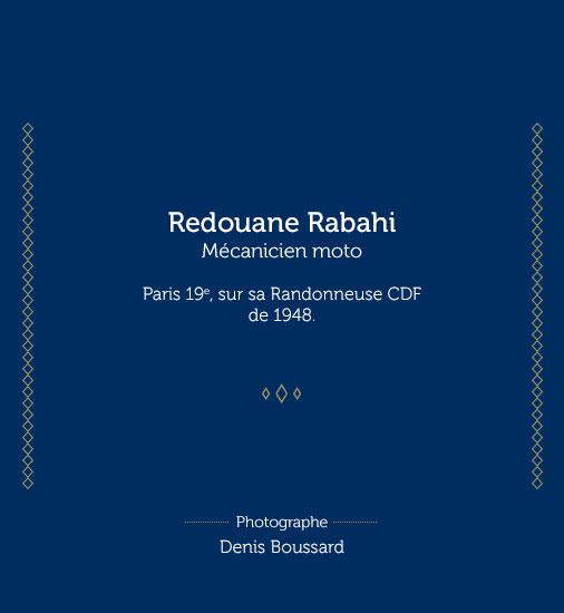 Redouane Rabahi, mécanicien moto. Paris 19e, sur sa randonneuse CDF de 1948 - Histoire veste Galibier Les Motocyclettistes