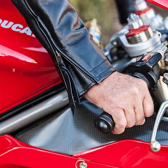 Détail blouson Lapize Les Motocyclettistes
