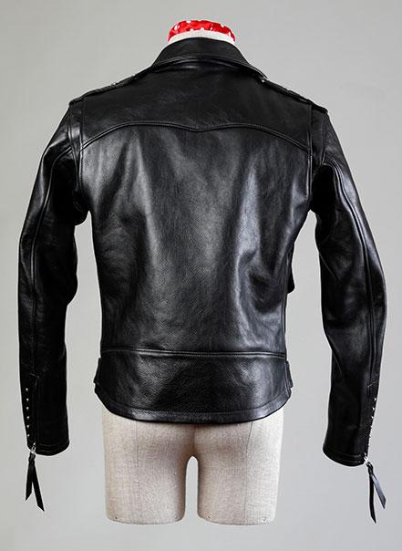 Blouson noir deluxe vu de dos - Les Motocyclettistes