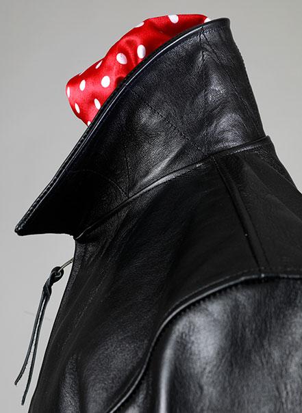 Blouson Rapide - Détail col de profil - Les Motocyclettistes
