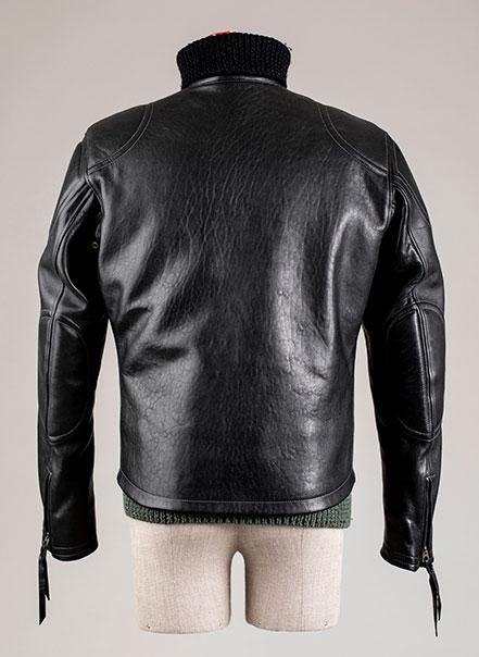 Blouson cuir Grand prix de France noir Les Motocyclettistes vu de dos