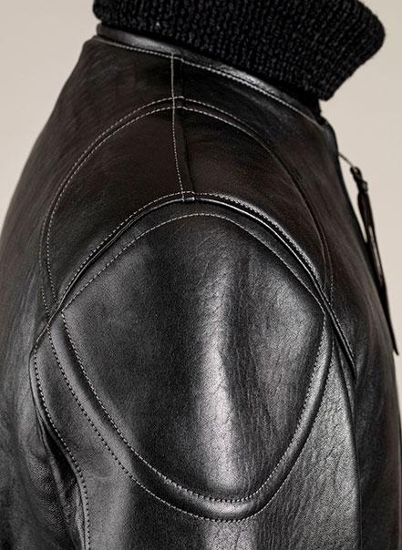 Blouson cuir Grand prix de France noir Les Motocyclettistes - Epaule